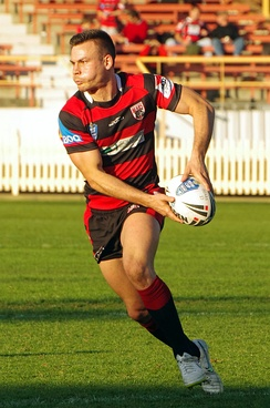 Darren Nicholls playing for the North Sydney Bears in the New South Wales Cup