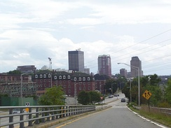 View of downtown from the north