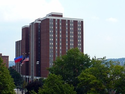 The Duquesne Towers building houses 1,200 students