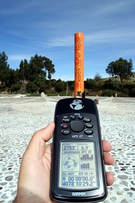 GPS reading taken on the equator close to the Quitsato Sundial, in Cayambe, Ecuador[7]