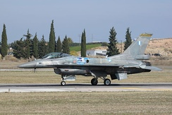 F-16C Block 52+ displaying as the Hellenic Air Force display team