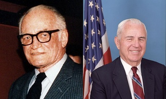 Sen. Barry Goldwater (R—AZ) and Rep. William Flynt Nichols (D—AL-4), the co-sponsors of the Goldwater–Nichols Act of 1986.