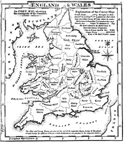 Map of the English and Welsh counties in 1824