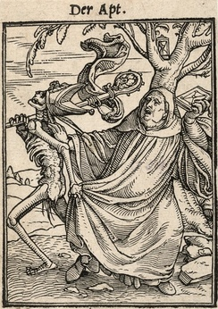 """The Abbot"", from the Dance of Death, by Hans Holbein the Younger"