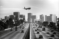 I-5 looking south toward downtown San Diego in January 2002