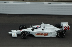 Andretti driving the Roth Racing No. 24 car in practice for the 2008 Indianapolis 500