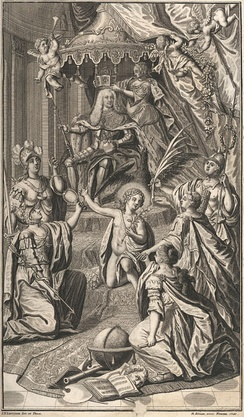 Allegorical depiction of Charles's coronation as Holy Roman Emperor (1742)