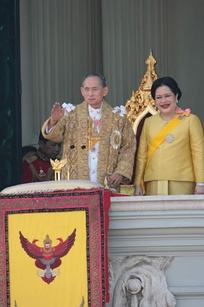 King Bhumibol and Queen Sirikit at 60th Anniversary Celebrations