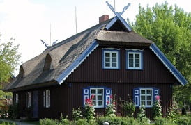 Traditional fishermen house in Nida, Curonian Spit