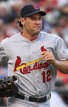 Berkman playing for the St. Louis Cardinals in 2011