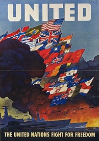 Wartime poster for the United Nations, created in 1943 by the U.S. Office of War Information