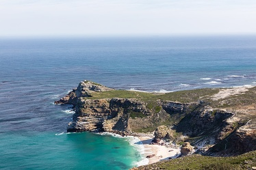 The Cape of Good Hope looking towards the west, from the coastal cliffs above Cape Point, overlooking Dias beach