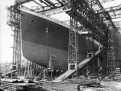 RMS Titanic ready for launch