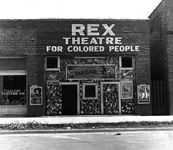 The Rex theater for colored people, Leland, Mississippi, 1937