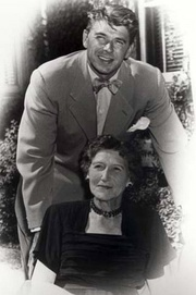 Ronald Reagan with his mother Nelle 1950 cropped.jpg
