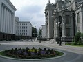 The House with Chimaeras is located across from the presidential administration.