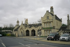 Stamford railway station prior to being extensively refurbished by Network Rail and Central Trains. Robert Humm's bookshop has now moved from there into the town.
