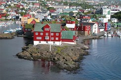 Tinganes in Tórshavn, seat of a part of the Faroese government