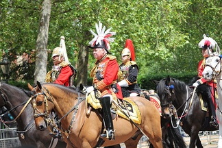 Lord Vestey, Master of the Horse (UK) 1999–2018, riding to the Queen's Birthday Parade in 2009.