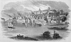 View of Vicksburg in 1855