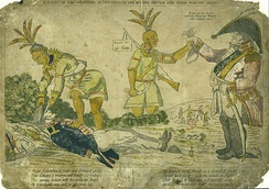 Americans believed British officers paid their Indian allies to scalp American soldiers, c. 1812