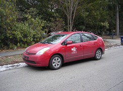 Toyota Prius used by PhillyCarShare.