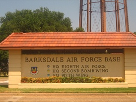 Entrance to Barksdale Air Force Base