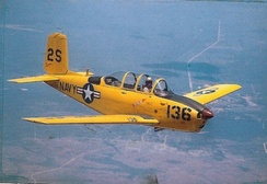 A U.S. Navy T-34B assigned to NAS Saufley Field in the 1950s.