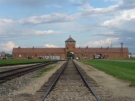 "Nolte called the Auschwitz death camp and the other German death camps of World War II a ""copy"" of the Soviet Gulag camps."