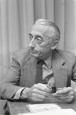 Jacques-Yves Cousteau, pioneer of scuba diving and underwater photography and film-making.