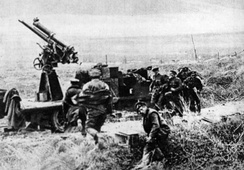 "A Canadian anti-aircraft unit of 1918 ""taking post"""