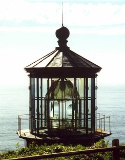 Cape Meares Lighthouse; first-order Fresnel lens
