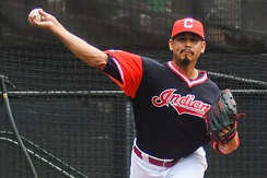 Carrasco with the Indians in 2017