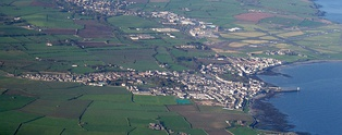 Aerial view of Castletown, Isle of Man