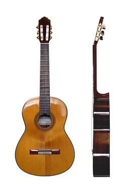 The modern classical guitar and its baroque predecessor were invented in Spain