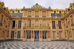 The Cour royale and the Cour de marbre at Versailles