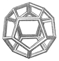 Leonardo's illustration of a dodecahedron from Pacioli's Divina proportione (1509)