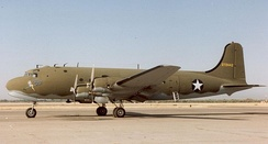 The C-54 was the preferred tow aircraft for the XCG-17