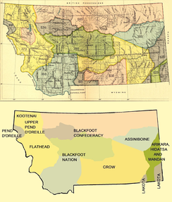 Early Indian treaty territories in Montana.