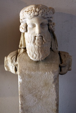 Bust of Dionysus in the temple of Liber Pater in the forum, 1st century AD