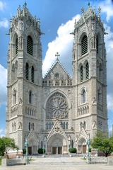 Cathedral Basilica of the Sacred Heart in Newark, the fifth-largest cathedral in North America, is the seat of the city's Roman Catholic Archdiocese.