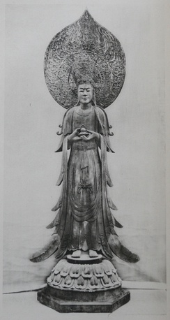 The Yumedono Kannon, another example of the Tori style.