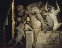 Monkeys as Judges of Art, an ironical 1889 painting by Gabriel von Max.