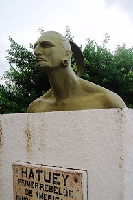 Monument of Hatuey, an early Taíno chief of Cuba