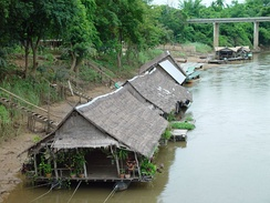River houses on the River Kwai.