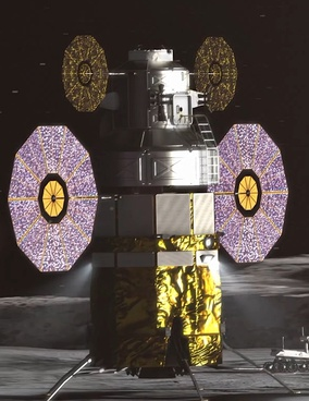 The Advanced Exploration Lander, used as a stand-in while HLS designs are finalized