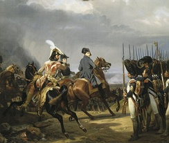 Napoleon reviewing the Imperial Guard before the Battle of Jena