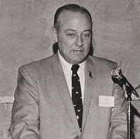 Waggonner at his alma mater, Louisiana Tech University (c. 1970), of which he was an active alumni supporter
