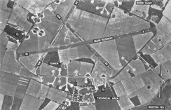 An aerial photograph of RAF Knettishall in 1951