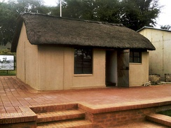 Thatched room at Liliesleaf Farm, where Mandela hid